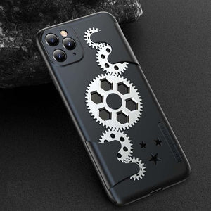 Case for IPhone X XR XS Max Ultra Thin Slim Hard PC Back Cover for IPhone 11 Pro Max Mechanical Gear Shockproof Phone Case Coque