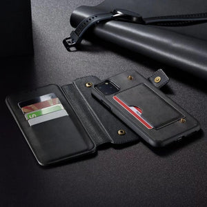 iPhone 11 11Pro 11Pro max mobile wallet 2 in 1 separable iPhone X XS phone case