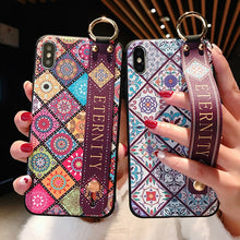 Load image into Gallery viewer, Fabulous phone case For iphone X Xs max XR soft coque funda for iphone 11 pro max Strap case For iphone 7 8 6 6s plus cover