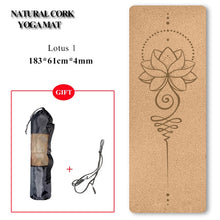 Load image into Gallery viewer, Natural Cork TPE Yoga Mat Non-slip Pilates Exercise Mats Fitness Gym Sports Slimming Balance Training Pads 4mm
