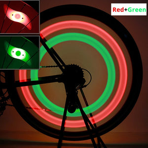 Waterproof bicycle spoke light 3 lighting mode LED bike wheel light easy to install bicycle safety warning light With Battery