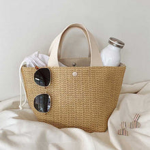Load image into Gallery viewer, New Capacity Straw Bags Women Handmade Woven Basket Bolsa Tote Summer Bohemian Beach Bags