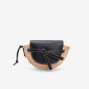 Lafite grass cover straw bag shoulder girl woven bag beach handbag