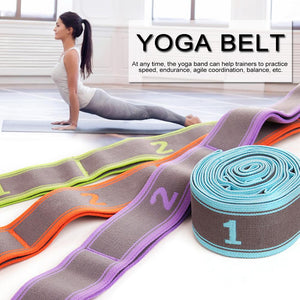 Yoga Belt Beginners Training Pull Tape Fitness Equipment Yoga Accessories Stretch Elastic Band Exercise Resistance Band