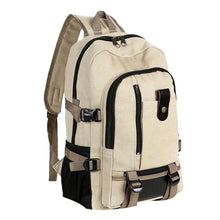 Load image into Gallery viewer, Men's Canvas Backpack Rucksack Sport Fashion Simple Double-Shoulder Military Double-Shoulder Schoolbag