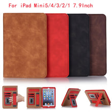 Load image into Gallery viewer, Tablet case For iPad Mini 7.9 inch Slim Shockproof Stand solid color leather Protective Case