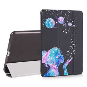 Case for ipad Mini  Air 2 3 12.9 inch pro 2018 PU Leather Cute World Map Travel Cover Hard Back Cases