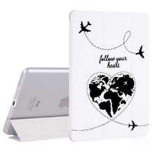 Load image into Gallery viewer, Case for ipad Mini  Air 2 3 12.9 inch pro 2018 PU Leather Cute World Map Travel Cover Hard Back Cases