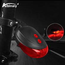 Load image into Gallery viewer, Waterproof bicycle tail light 5LED + 2 laser bicycle light safety warning tail light mountain bike outdoor riding equipment