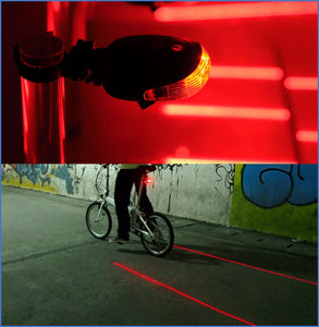 Waterproof bicycle tail light 5LED + 2 laser bicycle light safety warning tail light mountain bike outdoor riding equipment