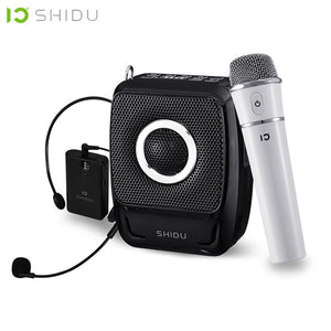 25W Portable Voice Amplifier Waterproof Mini Audio Speaker USB With UHF Wireless Microphone