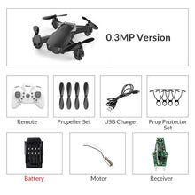 Load image into Gallery viewer, WiFi FPV With HD Camera Altitude Hight Hold Mode Foldable RC Drone