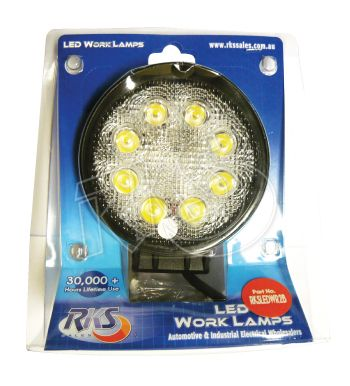 RKS 10-30V 24W ROUND FLOOD BEAM LED WORKLIGHT - G&C Communications