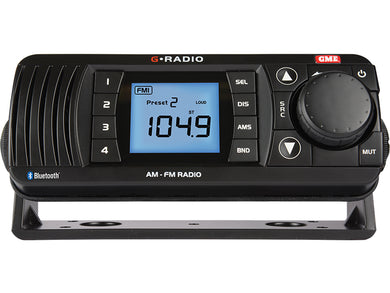 GME GR300BT AM/FM Marine Radio with Bluetooth - G&C Communications
