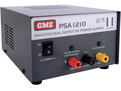 GME PSA1210 11 Amp, Regulated DC Power Supply - G&C Communications