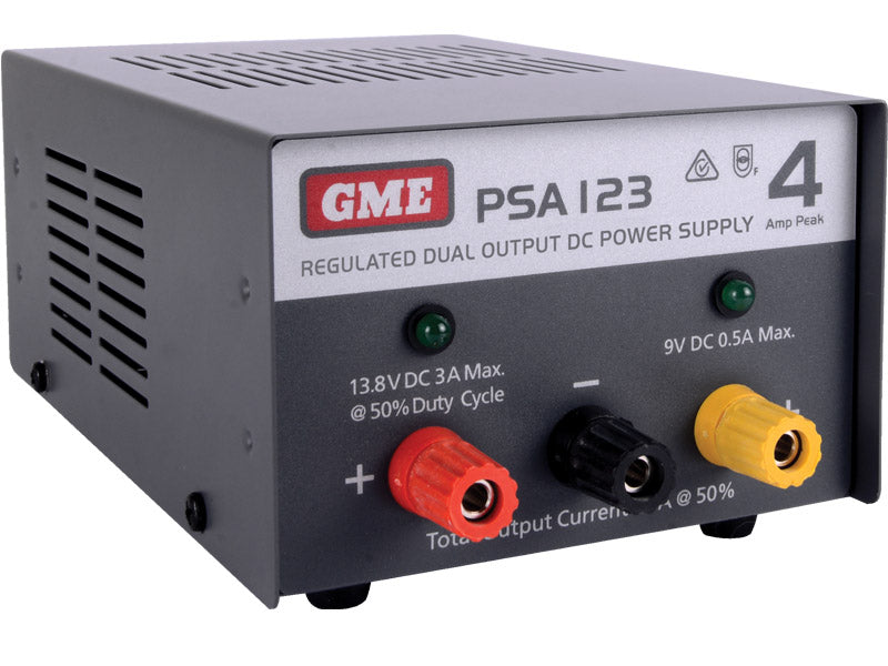 GME PSA123 4 Amp, Regulated DC Power Supply - G&C Communications