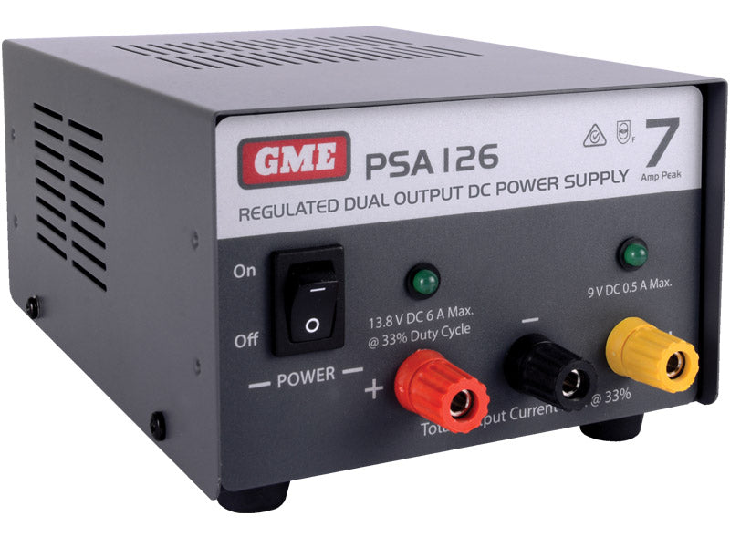 GME PSA126 7 Amp, Regulated DC Power Supply - G&C Communications