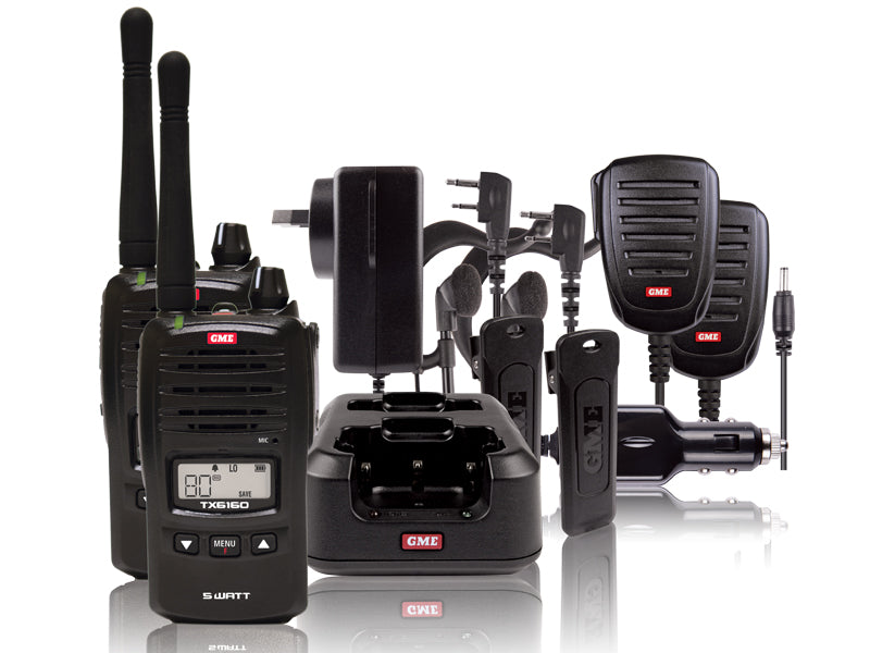 TX6160TP 5 Watt IP67 UHF CB Handheld Radio - Twin Pack - G&C Communications