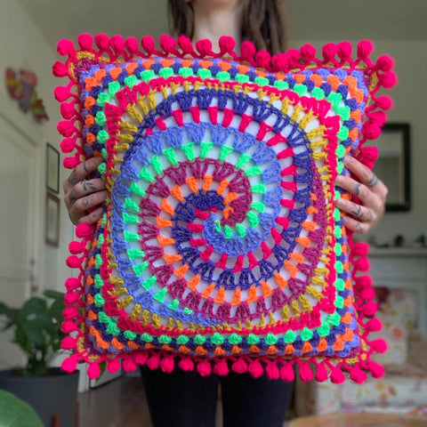 Vortex Pillow Crochet Pattern