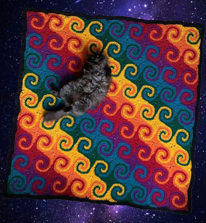 Rainbow Galaxy Blanket Crochet Pattern