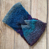 Twist Knit Headband - Blue Ombre