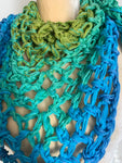 Aquatic Ombre Triangle Scarf