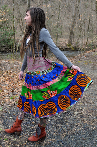 Bold African Wax Skirt
