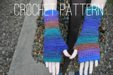 Fingerless Armwarmers - Crochet Pattern