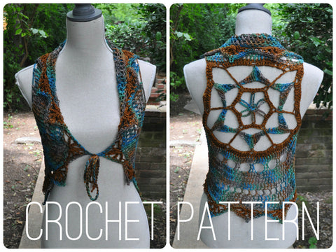 Starflower Mandala Vest - Crochet Pattern