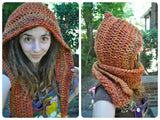 Pixie Hooded Scarf - Crochet Pattern