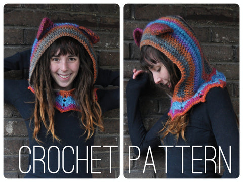 Grateful Dead Dancing Bear Hood - Crochet Pattern