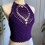 Purple Stella Crop Top