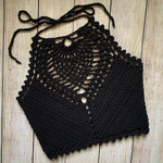 Black Stella Crop Top