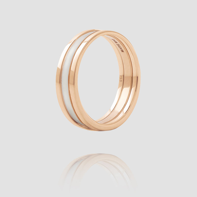 We Ring | Or Rose Laque Blanche