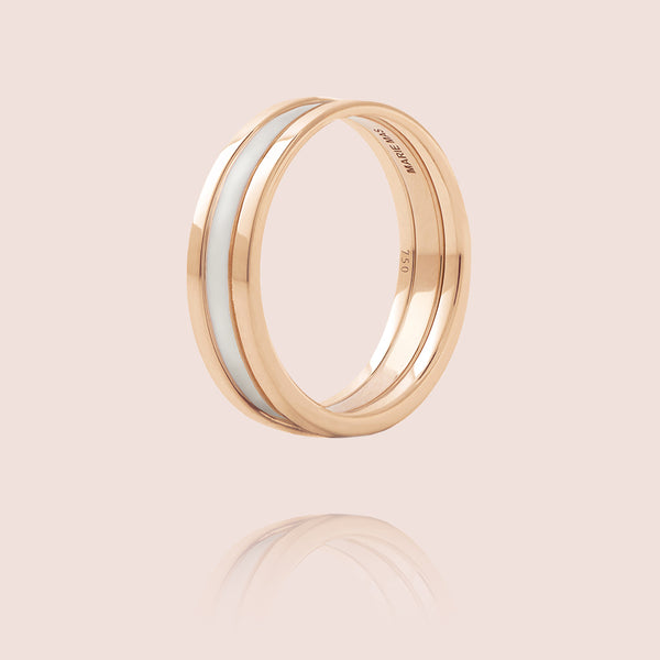 We Ring | Rose Gold White Lacquer
