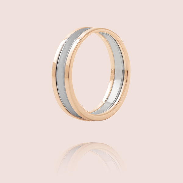 We Ring | Or Rose Laque Grise