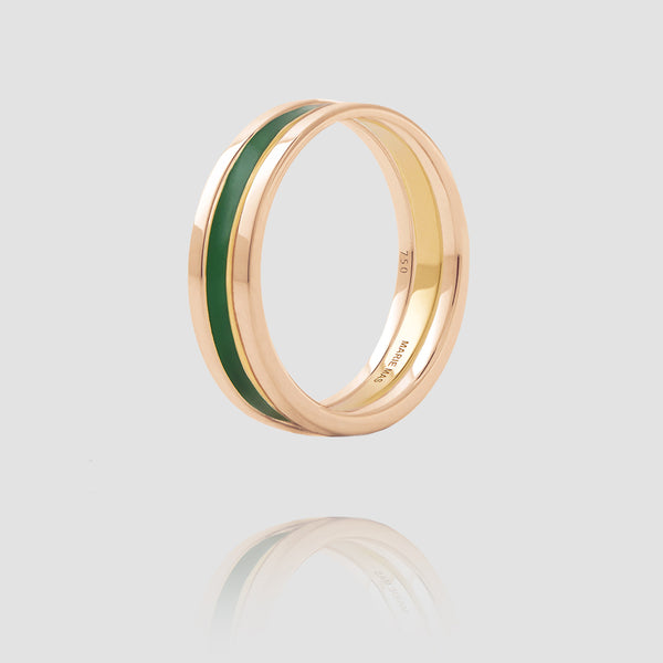 We Ring | Rose Gold Green Lacquer
