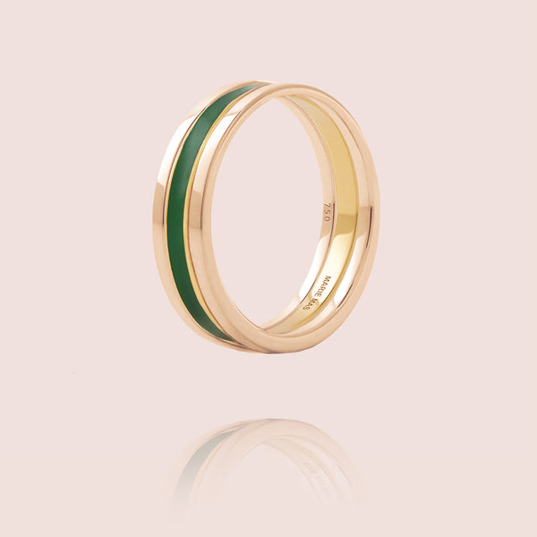 We Ring | Or Rose Laque Verte