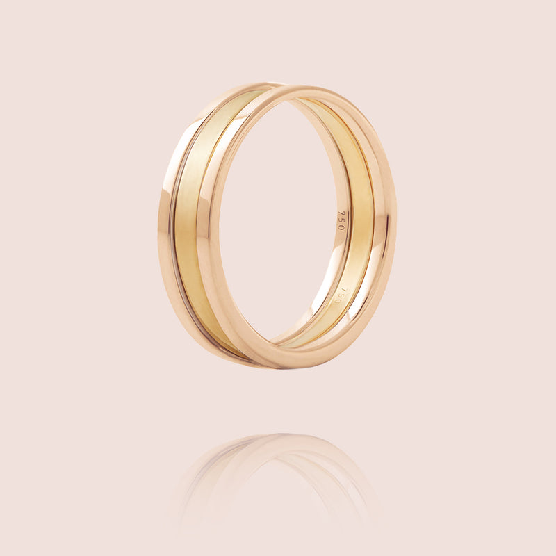 We Ring | Rose & Yellow Gold Matt