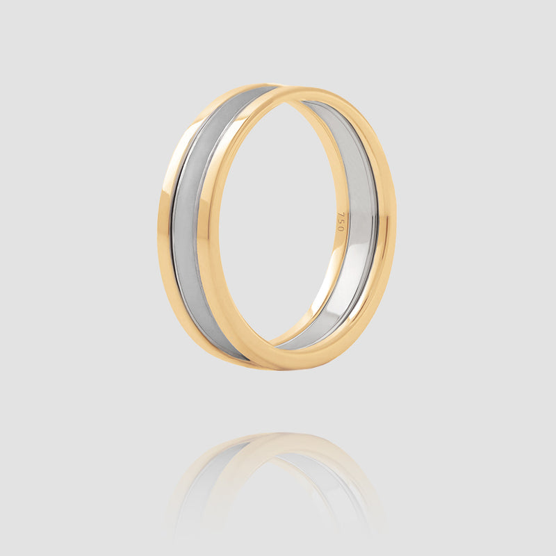 We Ring | Yellow Gold Gray Lacquer