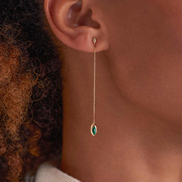 Long Swinging Chain Earrings