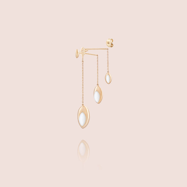 Swinging Triple Chain Earrings