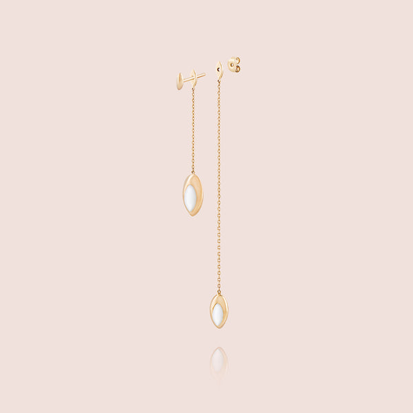 Double Swinging Chain Earrings