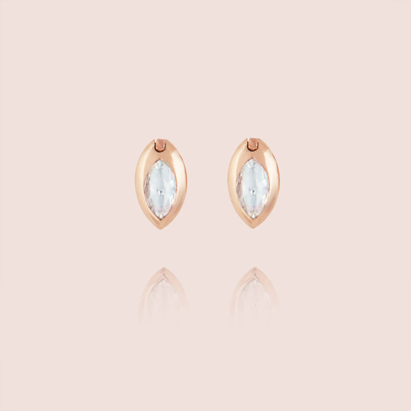 Swinging Marquise Diamond Studs