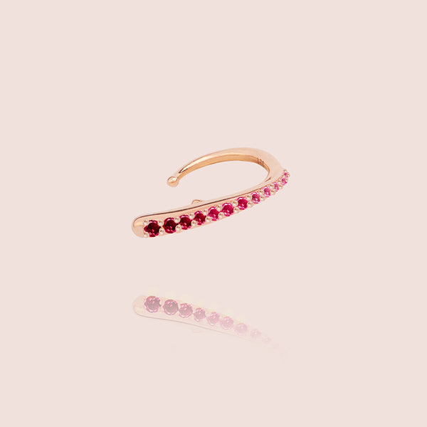 Ruby Ocean Tide Ear Jewel