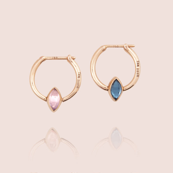 Swinging Mini Hoop Earrings