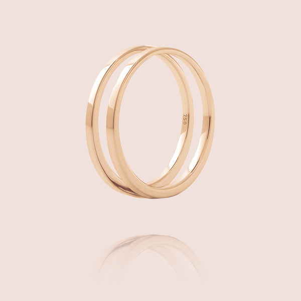 U Ring | Or Rose