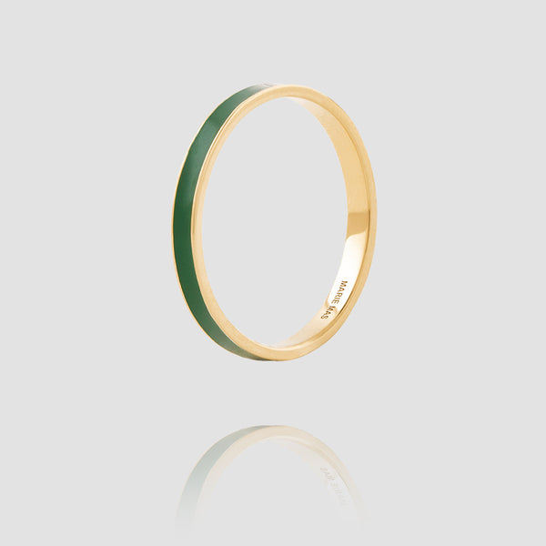 I Ring | Green Lacquer