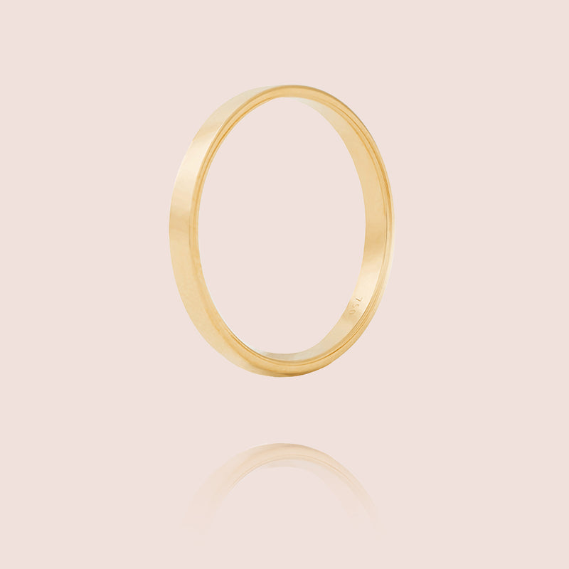 I Ring | Yellow Gold Matt