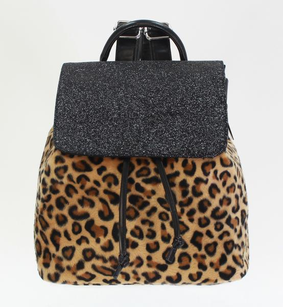 Leopard Fur Backpack